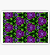 At Night the Purple Violets Bloom Sticker