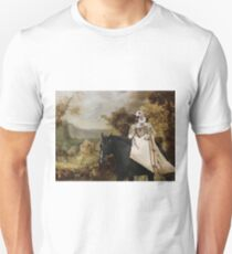 Whippet Art Canvas Print - The rural road and horseride Lady Unisex T-Shirt