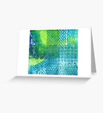 Industrial Blues and Greens Greeting Card