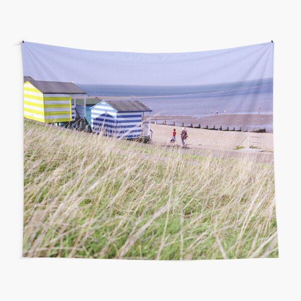 Beach Huts Tankerton Slopes Whitstable Kent Coast England UK Tapestry
