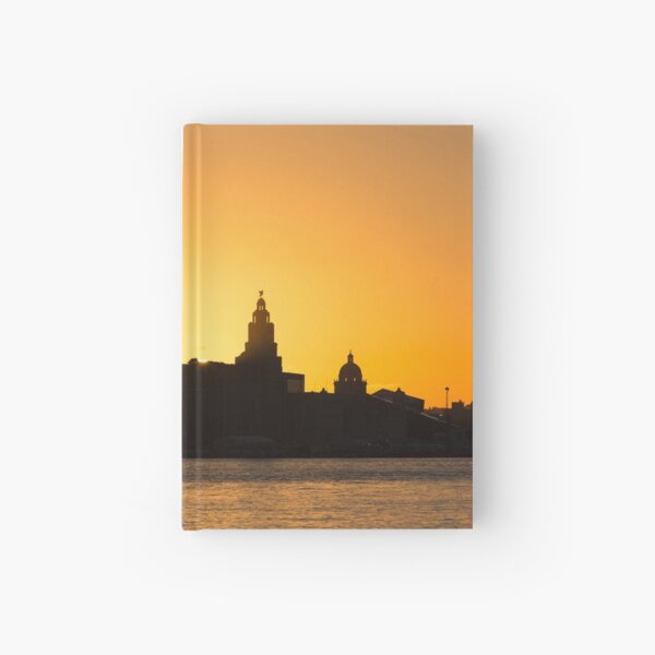Liverpool Waterfront Dawn Hardcover Journal