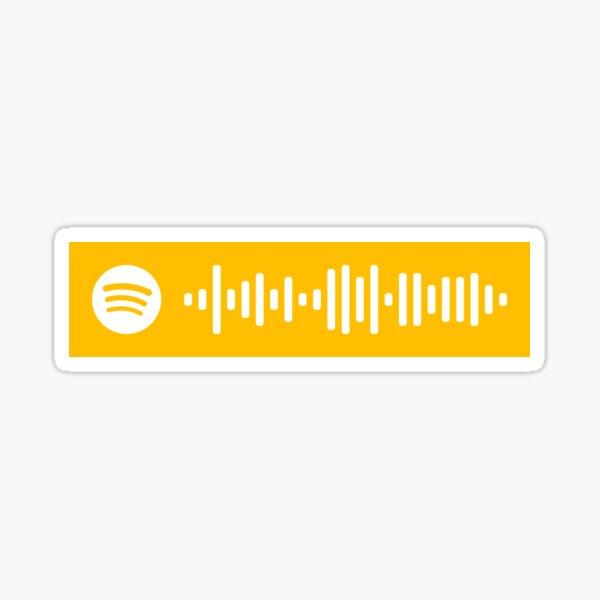 Amarillo por Coldplay Spotify Code Pegatina
