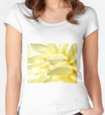 Bright Yellow Flower Women's Fitted Scoop T-Shirt