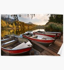 boats on a lake Poster