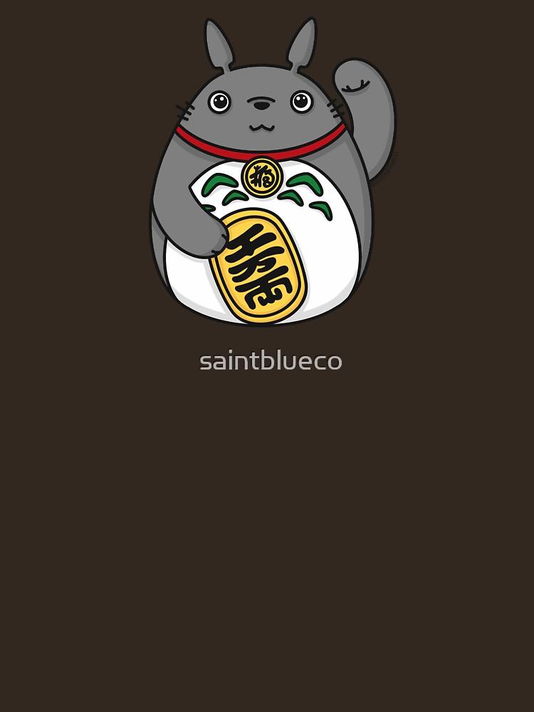 Lucky Forest Spirit, Luck Cat by saintblueco