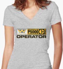 Powerloader Operator Women's Fitted V-Neck T-Shirt