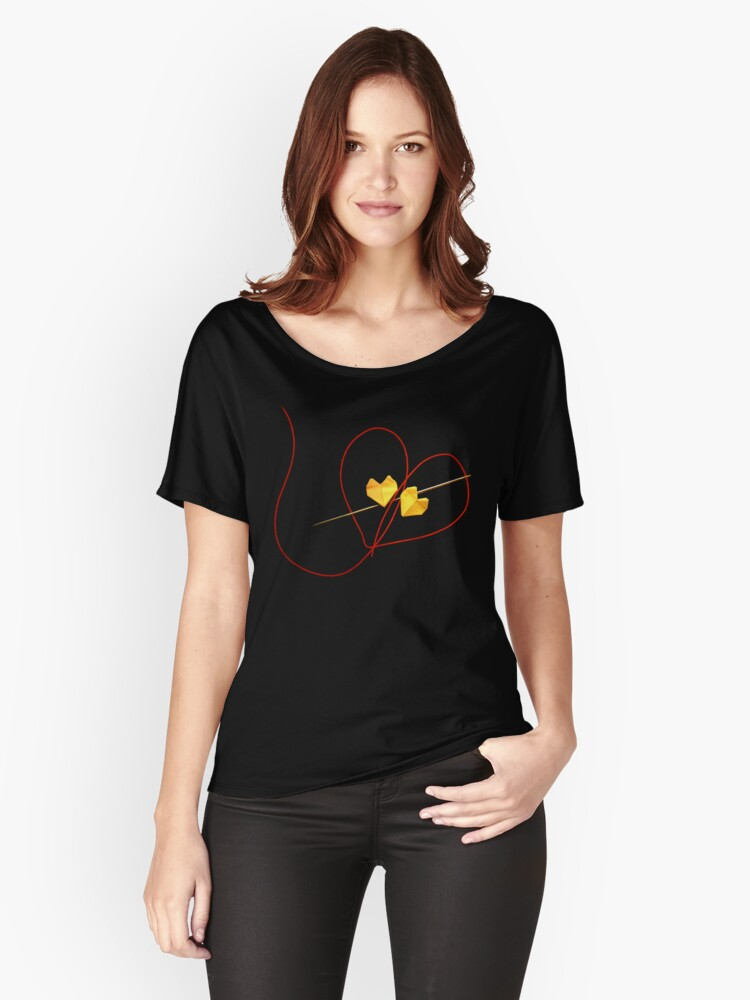Red String of Fate Women's Relaxed Fit T-Shirt Front