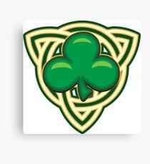 Saint Patricks Day Shamrock Emblem  Canvas Print