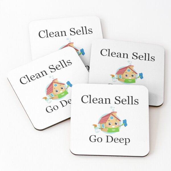 Clean Houses Sell Do A Deep Clean Coasters (Set of 4)