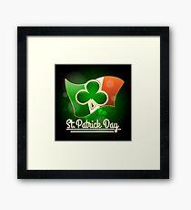 Saint Patricks Day Greeting Theme Framed Print