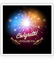Congrats Fireworks Sticker