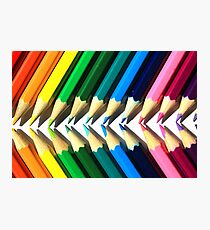 Colored Pencil Angles Photographic Print