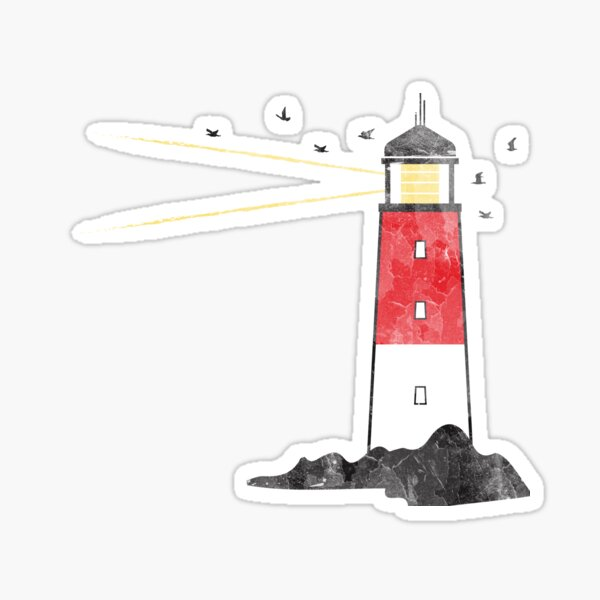 Worn Lighthouse Sticker