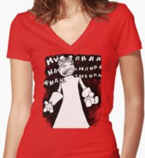 Doctor Horrible - Non Transparent Evil Laugh Women's Fitted V-Neck T-Shirt