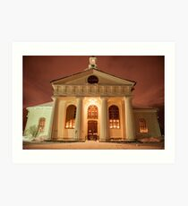 A Greek Temple or a Swedish Church? Art Print