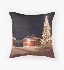 Christmastime in Skellefteå Throw Pillow