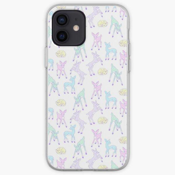 Motif fauve kawaï Coque souple iPhone