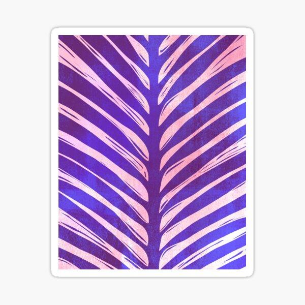 Palm Woodcut Blue Sticker