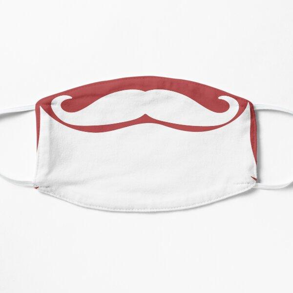 Santa Beard white Funny Humour Santa Claus Mustache Xmas Red Flat Mask