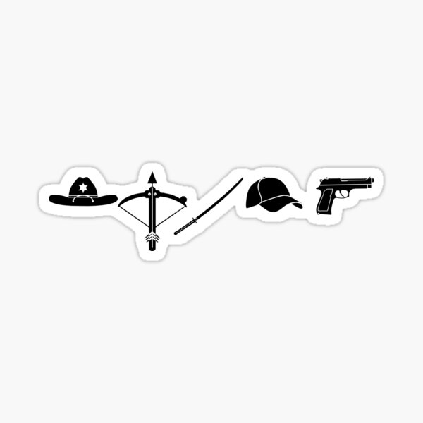 The Walking Dead - Symbols Sticker