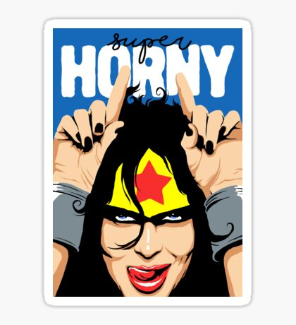 Super Horny Sticker