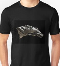 Spaceship on black - front side view Unisex T-Shirt