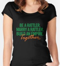 Marry a Rattler Collection by Graphic Snob® Women's Fitted Scoop T-Shirt