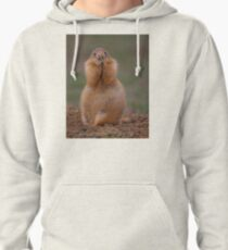 Prairie Dog with Funny Expression Pullover Hoodie