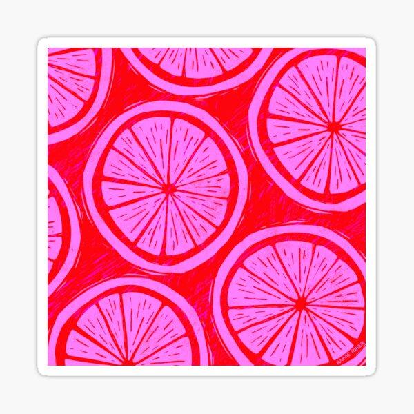 Citrus Block Print Sticker