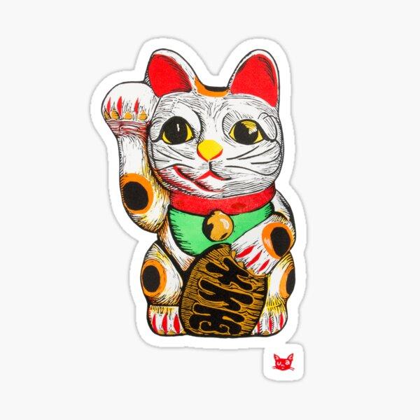 Maneki-neko, Lucky Cat Sticker