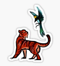 Tiger and Magpie Sticker