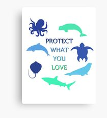 Protect What You Love Canvas Print