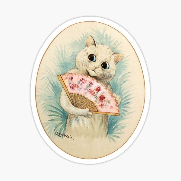 Vintage Louis Wain Geisha Cat Sticker
