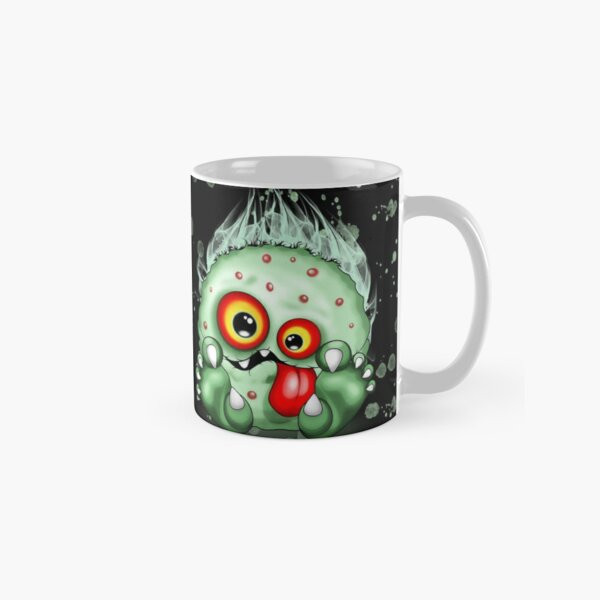 Virus Baby Monster Funny and Spooky Cartoon Character Classic Mug