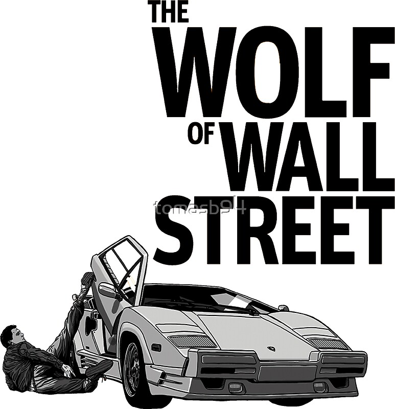 the wolf of wall street lamborghini countach stickers by tomasb94 redbubble. Black Bedroom Furniture Sets. Home Design Ideas