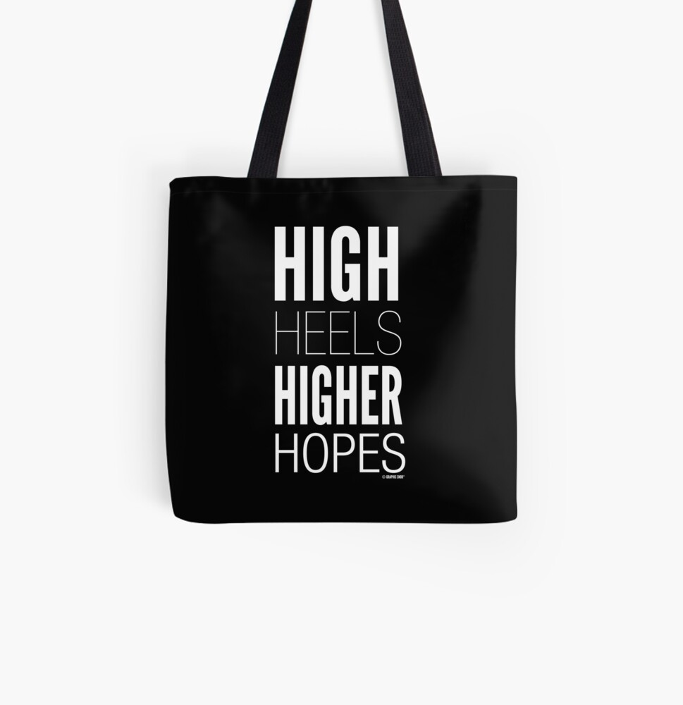 Dark High Hopes Collection by Graphic Snob® All Over Print Tote Bag