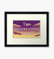 The Neverending Story Clouds Framed Print