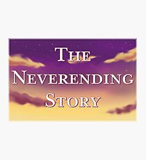 The Neverending Story Clouds Photographic Print