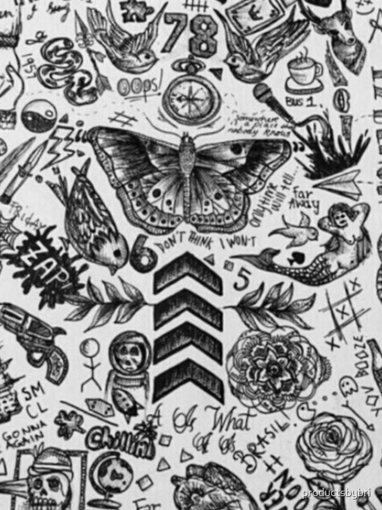 1D Tattoo Telefon Fall von productsbybri