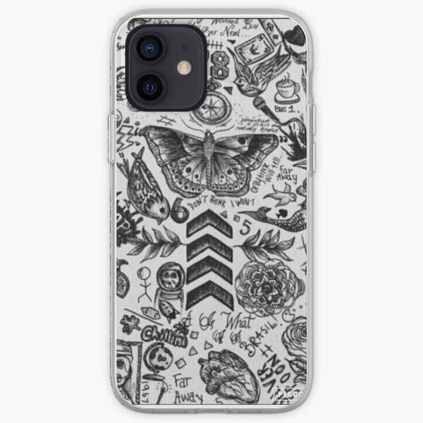Caja del teléfono del tatuaje 1D Funda blanda para iPhone