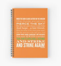 Green Strike Collection by Graphic Snob® Spiral Notebook