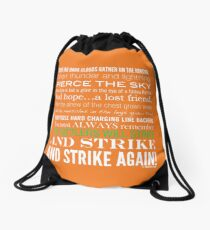 Green Strike Collection by Graphic Snob® Drawstring Bag