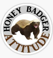 Honey Badger Attitude Sticker