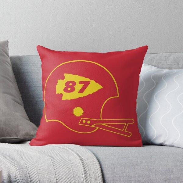 Retro KC Helmet #87 Throw Pillow