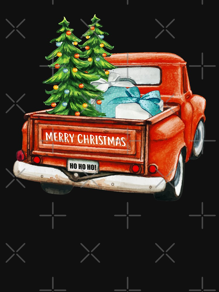 Red Truck Pick Up Christmas Tree  by leticdsgn