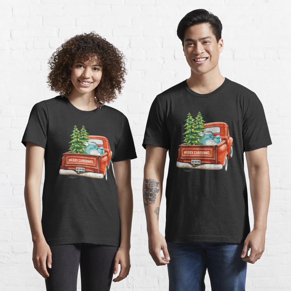 Red Truck Pick Up Christmas Tree  Essential T-Shirt