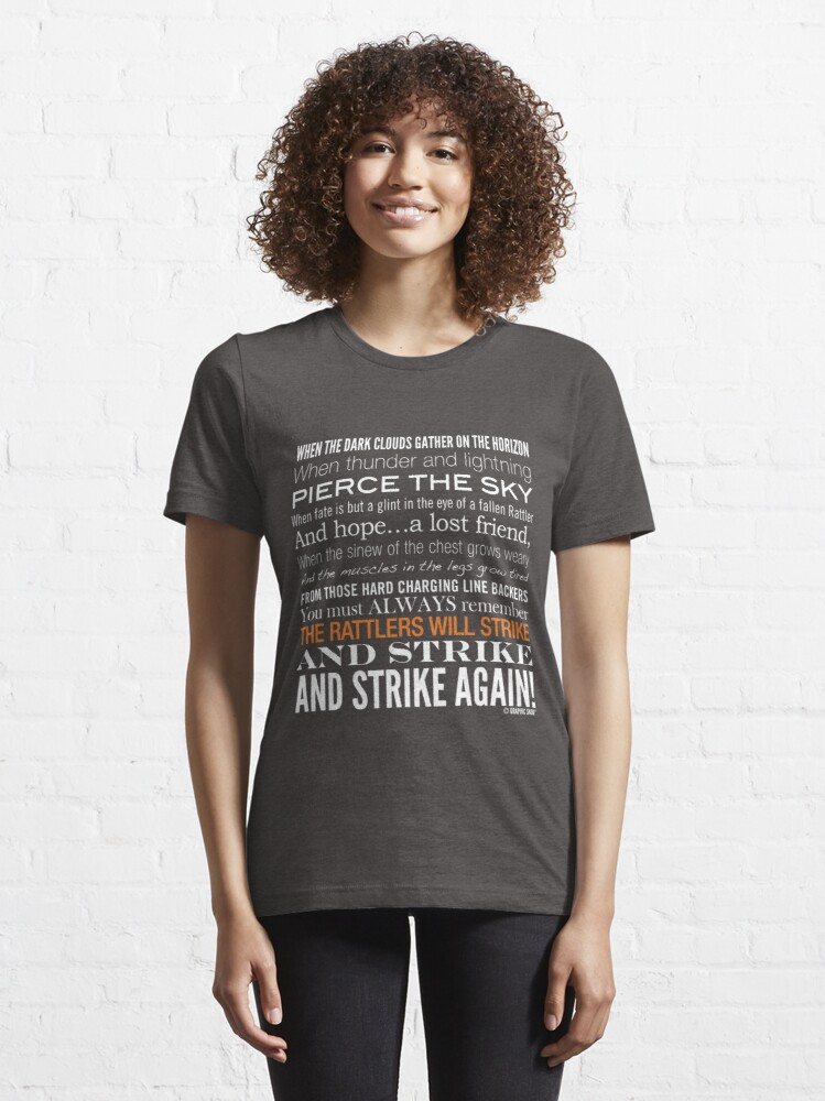 Alternate view of Orange Strike Collection by Graphic Snob® Essential T-Shirt