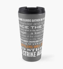 Orange Strike Collection by Graphic Snob® Travel Mug