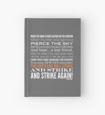 Orange Strike Collection by Graphic Snob® Hardcover Journal