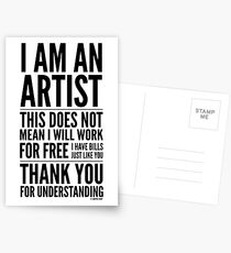 I Am an Artist Collection by Graphic Snob® Postcards